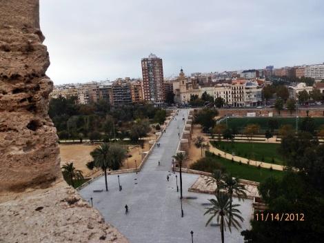Ausblick von den Torres de Serranos