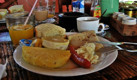 Frühstück auf Sansibar