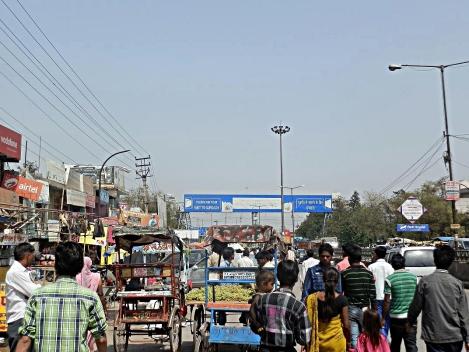 Grenzübergang: Delhi-Gurgaon
