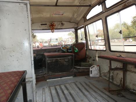 Bus - extra für uns ausgefegt