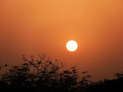 Traumhafter Sonnenuntergang über Delhi