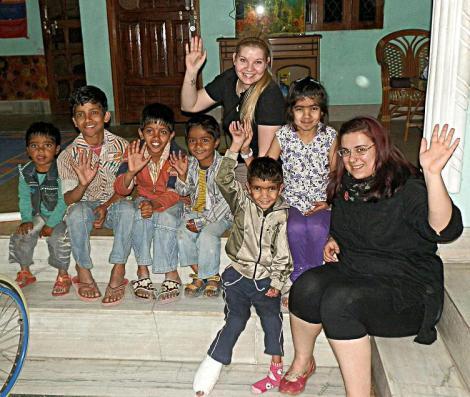 Foto fürs Familienalbum der Indischen Familie
