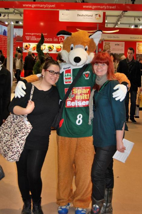 """Maskottchen der Handball-Ligisten """"Berliner Füchse"""""""