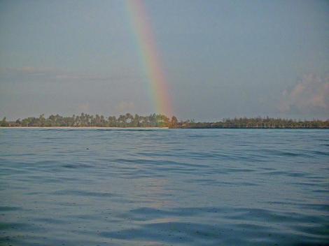 und auch ein Regenbogen ließ sich sehen