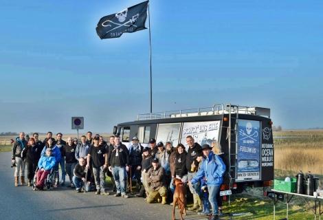 Gruppenfoto Team Meldorf an der Nordsee