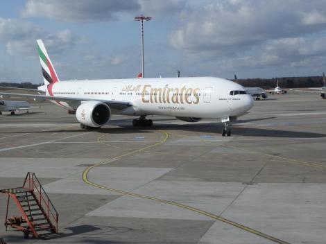Unser Flieger nach Delhi bzw Dubai