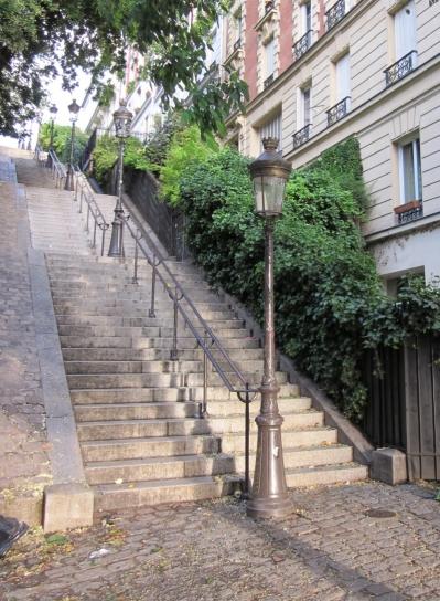 Die Treppen von Monmartre