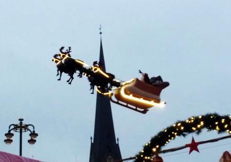 Wir haben den Weihnachtsmann gesehen!