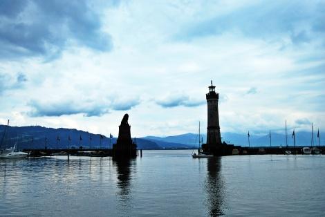 Wahrzeichen von Lindau - die Hafeneinfahrt