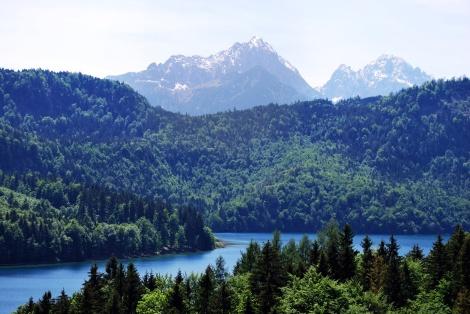Blick auf den Alpsee in Schwangau