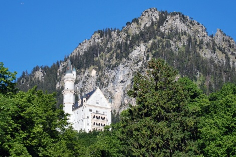 Schloss Neuschwanstein aus der Ferne