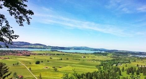 Aussicht vom Schloss Neuschwanstein