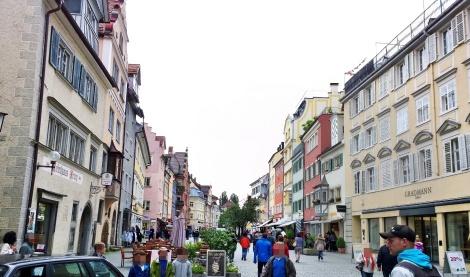Fußgängerzone in der Altstadt von Lindau