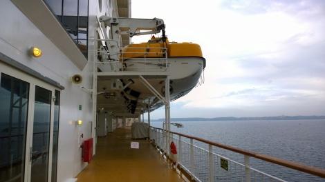 Rettungsboote sind natürlich Vorschrift